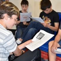 boys reading play